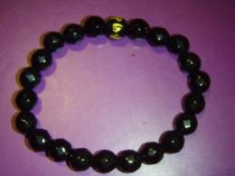 Obsidiaan - must obsidiaan - käevõru mantrahelmega