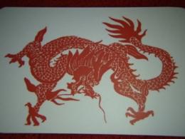 Amulett - Koera aastaks rikkusttoov amulett - kaart - Punane Draakon