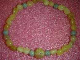 Opaal - kollane ja roheline opaal - käevõru