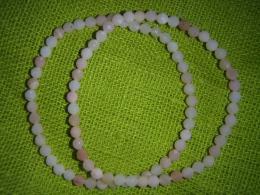 Opaal - roosa opaal - fassett-helmestest käevõru - UUS - VIIMANE