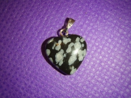 Obsidiaan - lumiobsidiaan - ripats - süda - ALLAHINDLUS