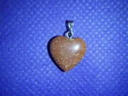 Kuldkivi - punane kuldkivi - ripats - süda 1,5 cm - ALLAHINDLUS