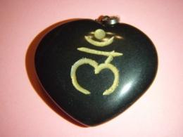Ahhaat - must ahhaat - ripats - süda - Sanskriti sümboliga - VIIMANE - TALVINE ALLAHINDLUS