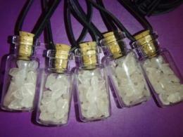 Roosa kvarts -  roosa kvartsi killukesed pudelis, nahkpael - KEVAD-SUVINE ALLAHINDLUS - VIIMASED