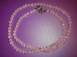 Roosa kvarts - helmestest kaelakee - ca 45 cm - VIIMASED