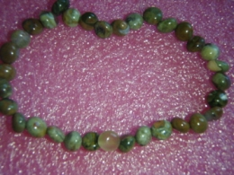 Jaspis - rüoliit - roheline rüoliit - käevõru - ALLAHINDLUS