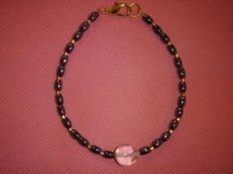 Hematiit + mäekristall - helmestest käevõru - SUUR ALLAHINDLUS
