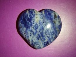 Sodaliit - lihvitud süda 4 cm