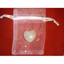 Roosa kvarts -  süda kinkekotis - VIIMASED