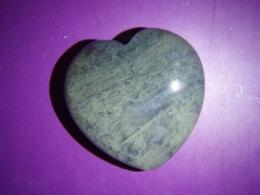 Ahhaat - roheline sammalahhaat - lihvitud - süda