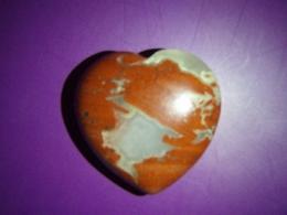 Jaspis - punane jaspis - lihvitud süda 3 cm