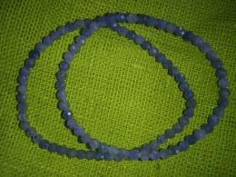 Tansaniit - fassett-helmestest käevõru - UUS
