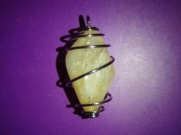 Tsitriin - lihvitud kivi hõbepiraalis