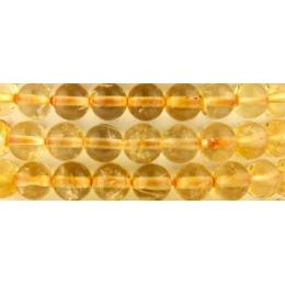 Tsitriin - 6 mm helmestest käevõru - UUS