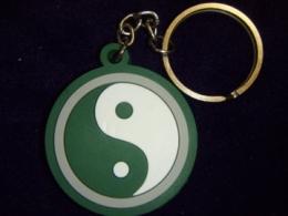 Võtmehoidja - Yin Yang - roheline-valge - SUUR ALLAHINDLUS